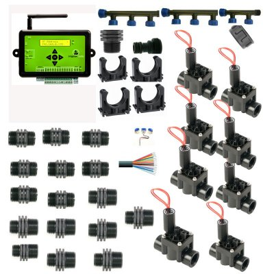 Caddy 10 Zone Web Based Control Unit With Manifold and 8 Solenoid Valves