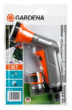 gardena classic spray gun and hose connector 18312 easy irrigation watering and irrigation. Black Bedroom Furniture Sets. Home Design Ideas