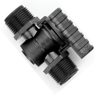 Barbed Valve 3/4 - 3/4 male Thread