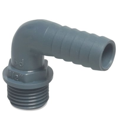 12mm//10mm Barbed Elbow Connector Push Fit for LDPE Pipe Drip Irrigation Systems