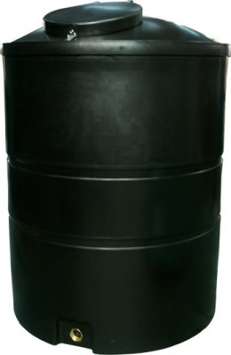 1850 Litre Slimline Water Tank Height 172 cm Diameter 125 cm