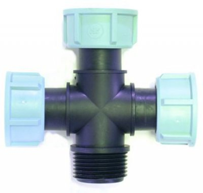 Manifold Cross 1 Inch Threads