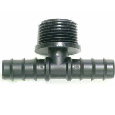 Barbed Tee Joint 16mm - 1/2 Inch Bsp Threaded Branch