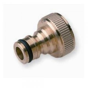 "Brass Tap Connector With Quick Connector 1"" Thread"