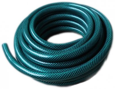Green Braided Garden Hose 30 Meters British Made