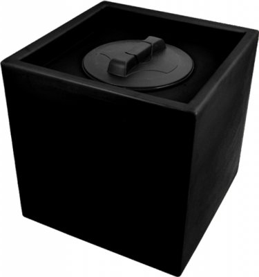 80 Litre Cube Water Tank 45 cm Square Black