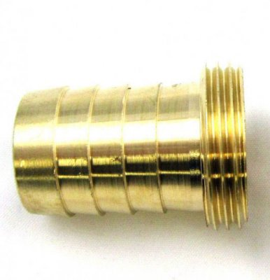 "Brass Hose Tail 3/4"" I/D Pipe - 3/4"" Male BSP Thread"