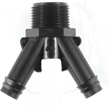 "Tavlit Push Fit Y Piece 16mm - 3/4"" BSP"