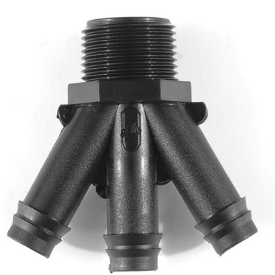 "Tavlit Push Fit 3 Way Connector 20mm - 3/4"" BSP"