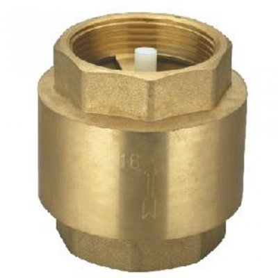 "Brass Spring Non Return Valve 1"" BSP Female Thread"