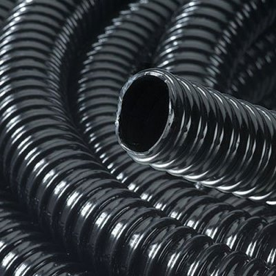 Black Ribbed Pond Pipe 13mm I/D 30 Metre Roll