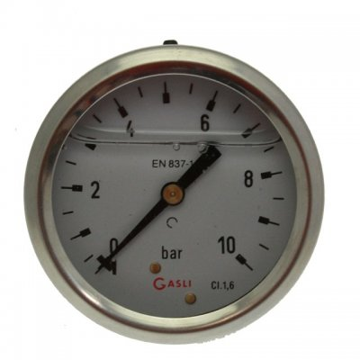 Pressure Gauge with Rear Thread 0 - 10 bar