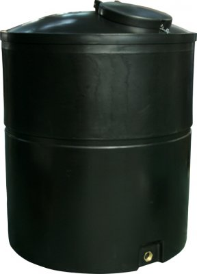 2500 Litre Large Commercial Water Tank Height 188cm Diamter 143 cm