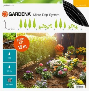 Gardena Starter Set For Plant Rows 15 Metres