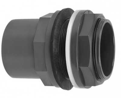 "PVC Tank Connector 32/40mm Pipe 11/4"" BSP Thread"