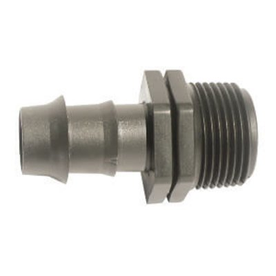 "Barbed 16mm Connector To 1/2"" BSP Male thread"