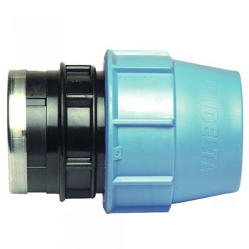 "Unidelta Connector Compression Fitting 90mm - 3"" Female Thread"