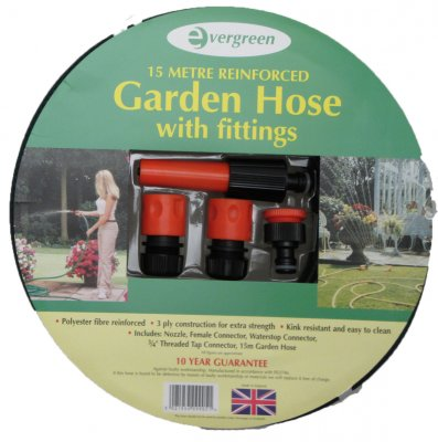 Garden Hose Pipe Complete Set With Sprayer 15 Metres