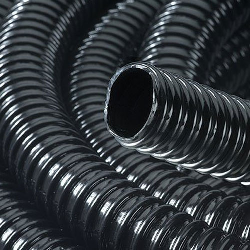 Black Ribbed Pond Pipe 38mm I/D 30 Metre Roll