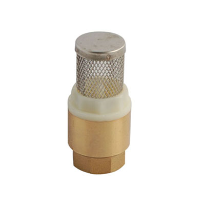 Spring Brass Foot Valve And Strainer 1 Inch BSPF
