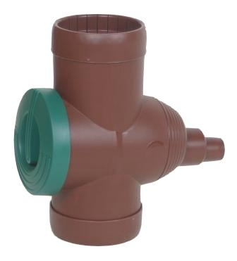 Rain Water Diverter 3P Brown
