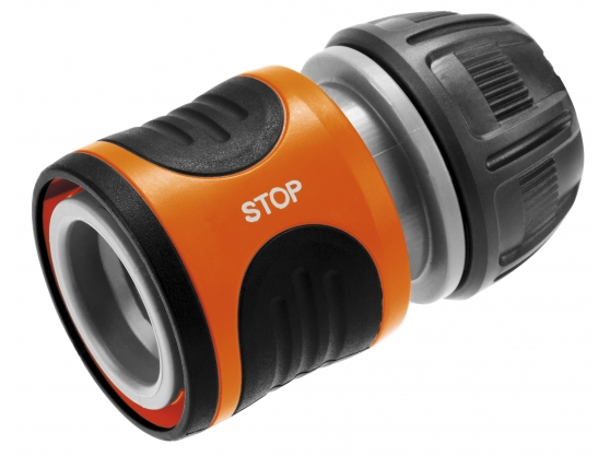 "Water Stop Hose Connector for 13mm (1/2"") Hose - Click Image to Close"