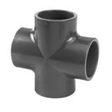PVC Irrigation Fitting Equal Cross 4 X Glue 40mm
